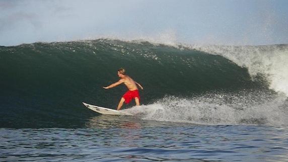 panama surf sandbar bottom turn